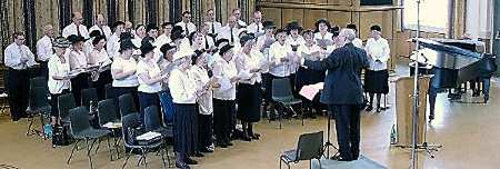 Singing at Leeds Grammar School in 2001